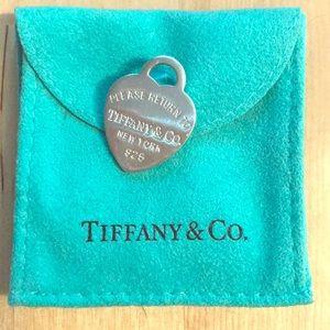 Tiffany Silver Charm Heart
